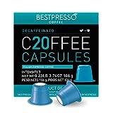 Bestpresso Coffee for Nespresso Original Machine 120 pods Certified Genuine Espresso Decaffeinato Blend(Medium Intensity)Pods Compatible with Nespresso Original 60 Days Satisfaction Guarantee
