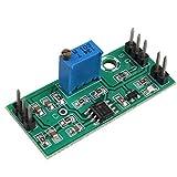 HALJIA Módulo comparador de voltaje LM393 con forma de onda de señal ajustable de alto nivel/carga...