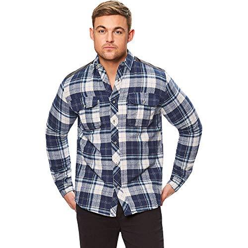 Regatta pour Homme Tyrion Coolweave Coton Chemise à Carreaux M Bleu Marine