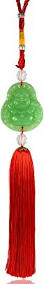 Reiki Crystal Products Car Decoration Hanging Accessories Feng Shui Green Laughing Buddha for Car Home