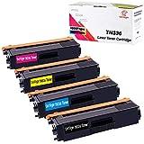 UniVirgin Compatible TN336 Toner Cartridge Replacement for Brother TN315 TN320 Toner Cartridge for HL-L8350CDWT HL-4150CDN HL-4570CDW HL-4570CDWT MFC-9460CDN MFC-9560CDW MFC-9970CDW (BCMY, 4-Pack)
