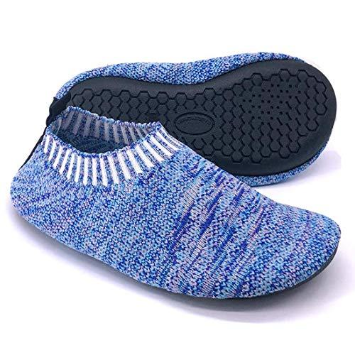Dream Bridge Zapatillas de Estar por Casa para Niños Chicos Antideslizantes Calcetines Zapatos de Deporte con Suela de Goma (Azul)