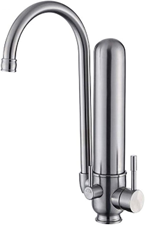 Multifunktionale Küchenarmatur Waschbecken Wasserhahn Dual Health Wasserhahn   304 Edelstahl silber