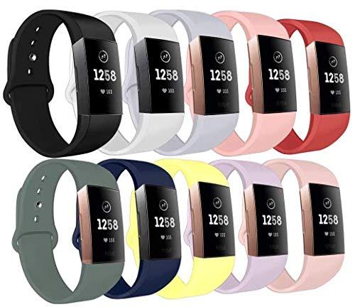 LouisRach Compatible con Fitbit Charge 3 Correa/Fitbit Charge 4 Correa, Adjustabe Correa de reemplazo única con Hebilla de botón de Metal para Correa Fitbit Charge 3 SE para Mujeres/Hombres