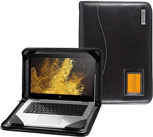 Broonel - Contour Series - Zwart lederen Beschermhoes - Compatibel met de Dell Inspiron 15.6 inch HD Touchscreen Laptop