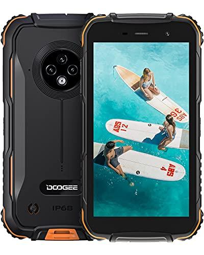 Movil Resistente Agua y Golpes, DOOGEE S35 [2021] 4G Moviles Baratos 4350mAh Batería Android, 13MP Triple Cámara, 5.0 Corning Gorilla Glass Pantalla, 2GB + 16GB Smartphone Antigolpes, GPS, Naranja