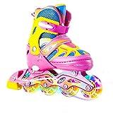 PRESNO Roller Derby Tracer - Juego de ruedas para niño (rosa, pequeño-(J13-2.5US))