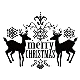 Honestyivan Merry Christmas Vinyl Art Home Window Store Wall Stickers Decal Decor Removable