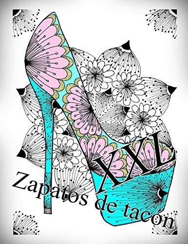 Zapatos de tacón XXL: libro para colorear para adultos: 1