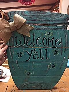 Welcome Y'all Mason Jar pallet wood sign