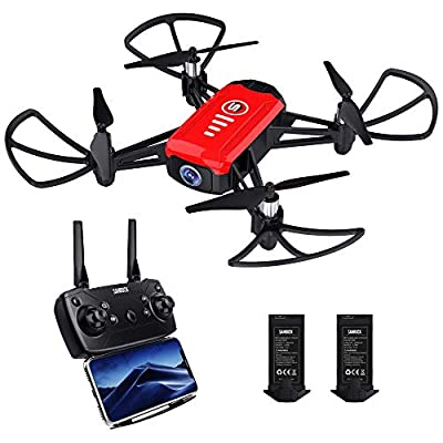 SANROCK H818 Mini Drone for Kids, Quadcopter with 720P HD Camera Real-time Video Feed, Support Altitude Hold, Route Mode, Headless Mode, One Key Take Off/Landing, Great Gifts for Boys Girls