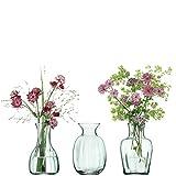 LSA MZ31 Mia, trio di mini vasi, altezza: 11 cm, in vetro riciclato