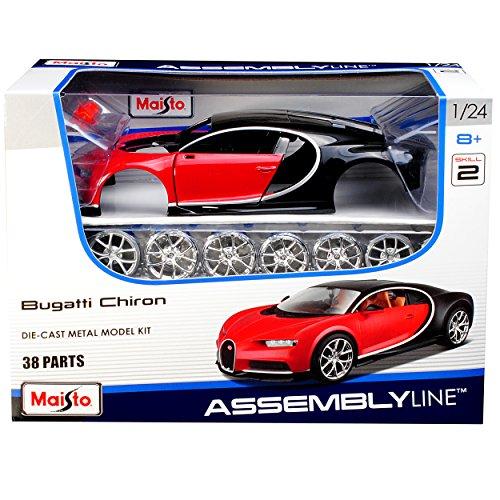 Maisto Bugatti Chiron Coupe Rot Ab 2016 39514 Bausatz Kit 1/24 Modell Auto