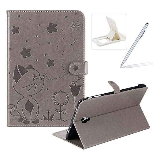 Great Price! Herzzer Wallet Flip Casse for Samsung Galaxy Tab A 10.5 2018,Cute Cat Bee Floral Emboss...