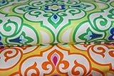 Baumwollstoff, Patchwork: Retro Print, Damask Blumen,