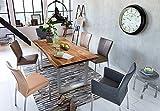 SAM Baumkantentisch 200x100 cm Quarto, nussbaumfarbig, Esszimmertisch aus Akazie, Holz-Tisch mit silber lackierten Beinen - 2