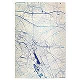 artboxONE Poster 90x60 cm Städte Hannover Deutschland Blue