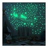 Feliciay 296 pegatinas luminosas de unicornio, castillo y estrella, pegatinas de pared arco iris para ropa de cama de niños, decoración de techo de estrellas para niñas y niños regalo de cumpleaños