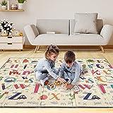 Alfombra Gateo Infantil Impermeable, Reversible y Plegable 200x180x1,5cm. Esterilla Bebe Ideal para la habitación del niño o la niña. Gran formato SUPERBE BEBE ®