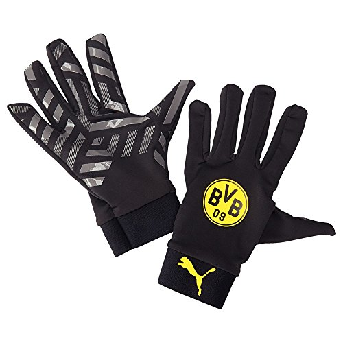 PUMA Spielerhandschuhe BVB Field Player Gloves, Black/cool Gray/Cyber Yellow, 4, 041199 01