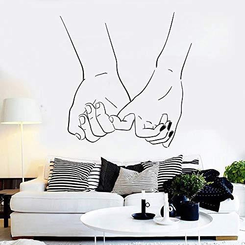 Tianpengyuanshuai Amor Pegatinas de Pared Pareja Manos habitación romántica calcomanías de Pared de Vinilo Moda Tendencia Estilo decoración del hogar decoración del Dormitorio 30x30cm