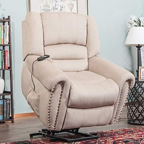 ZZYYZZ Power Lift Chair Elektrischer Riser Recliner für ältere Menschen mit Fußstütze, Sofa Recliner Sessel Wohnzimmerstuhl mit Fernbedienung
