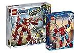 Collectix Lego Marvel 76164 Iron Man Hulkbuster vs. A.I.M.Agent + Spiderman 76146 Spiderman Mech - Juego de figuras de Los Vengadores