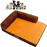 Jilisay Orthopädische-Hundebett, Plüsch weiche Hundematte Großes Hundebett Herausnehmbare waschbare Chaise Lounge Pet Sofa Kennel Corner Couch-f 100x75x8cm (39x30x3in)