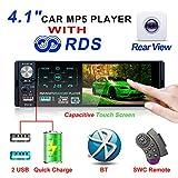 ESSGOO Car Stereo Bluetooth,4.1 Inch Single Din Car MP5 Player Autoradio,Support Touchscreen USB/TF/Aux,7