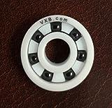 VXB 608 Full Ceramic Skate Bearing White Ceramic ZrO2 Rings with Si3N4 Black Balls 8x22x7 Ball Bearings VXB Brand