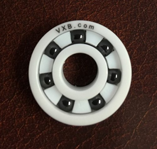 VXB 608 Full Ceramic Skate Bearing White Ceramic ZrO2 Rings with Si3N4 Black Balls 8x22x7 Ball Bearings VXB Brand