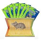 XH Trampa de Pegamento para ratón 6 Piezas Trampas de Pegamento para Ratas fuertemente Adhesivas para Oficina, hogar, almacén, Restaurante (Color : 6 Piece, Size : 337MM*217MM)