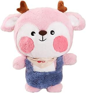 TOYANDONA Plush Fawn Doll Stuffed Fawn Toy Cute Animal Figurine Doll Hugging Pillow Kid Animal Toy for Kid Baby Toddler Bi...