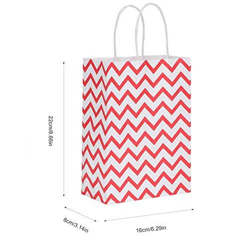 Bolsas Kraft Bolsas de regalo de papel Kraft, Bolsas de compras Bolsas de regalo de papel con forma de onda, Bolsas de papel Kraft para compras Bolsas de regalo Envoltura de regalos a granel(red)