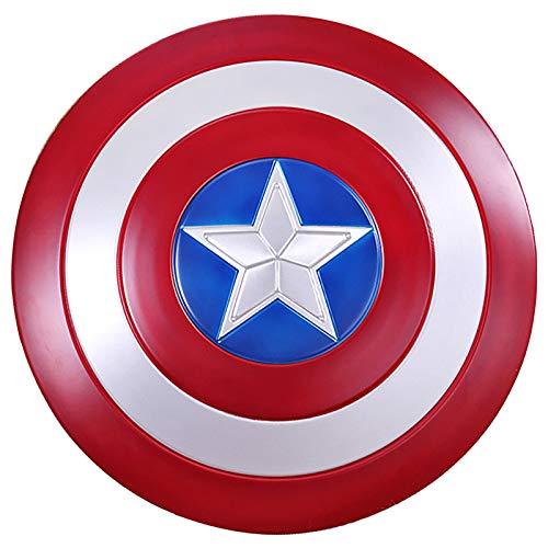 Captain America Shield Metal Captain America Custome Halloween Puntelli Cosplay per Adulti Bambino Bar Shield Decorazioni da Parete 60Cm