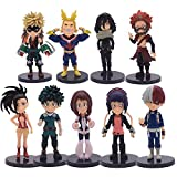 My Hero Academia Anime Figure Set – 9Pcs Birthday Cake Topper Set for Kids – Premium Birthday Cake Decorations for Parties – Ideal Party Favors, Mini Figurine Collection – Durable and Safe