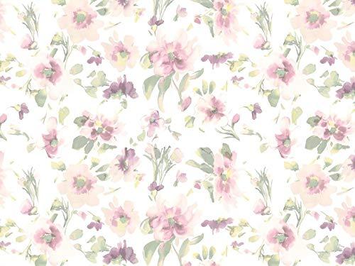 Venesto Gardinenstoff Organza Wonderland Blumenmuster Multicolor hochwertiger Stoff als Meterware halbtransparent