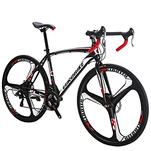 Eurobike Road Bike XC550 Bike 21Speed Gears Road Bicycle Dual Disc Brake Bicycle 49CM 3-Spoke wheel