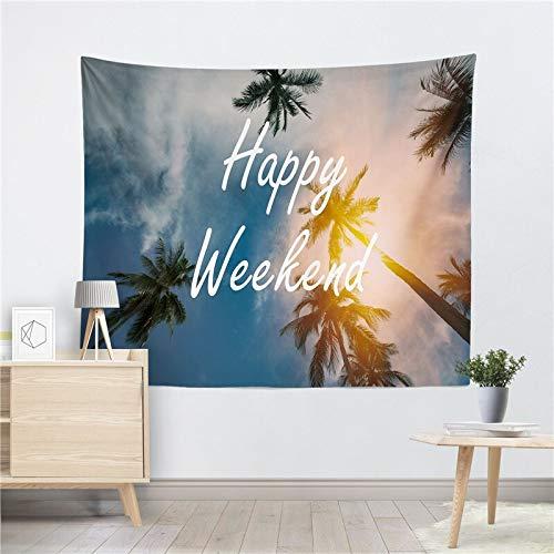 JXWR Tapiz Colgante de Pared estética Hippie Tapiz Toalla de Playa mantón Tablero Bohemio decoración del hogar 150x130 cm