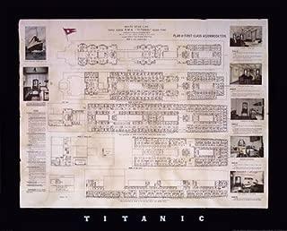 Titanic Deck Plan - 30x24 Inches - Art Print Poster