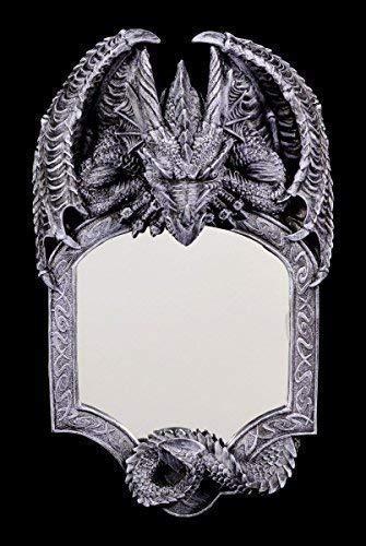 Dragones Espejo de Pared - Seelenwächter Gótico Espejo Figura Fantasía