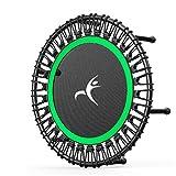 AOKASIX Trampoline D'exercices, Trampoline & Extérieur Sport Fitness Entraînement 100 Kg Ø 32 Pouces Convient pour La Remise en Forme des Adultes en Intérieur,Vert,40Inch