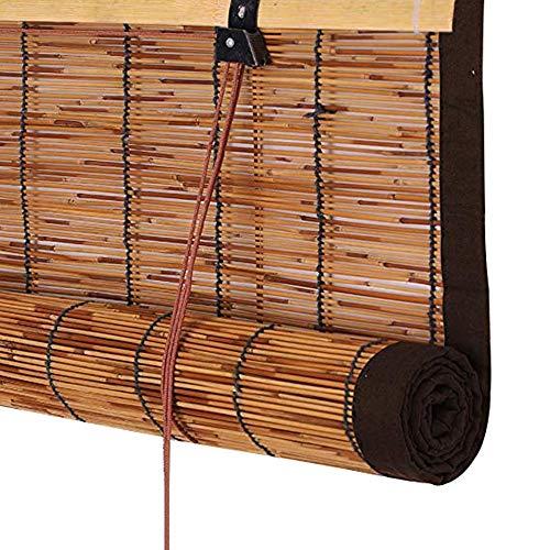 Ping Bu Qing Yun Rollladen Bambus Vorhang - Vertikale Reed Vorhang Rollo Mit Kordel Raffrollo for Tür Balkon Korridor Beschattung Schatten Raumteiler Vorhang 3 Farben (mehrere Größen) Rollo