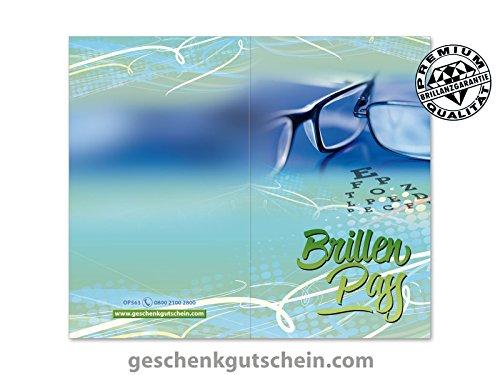 100 Stk. Brillenpässe für Optiker, Brillengeschäfter, Brillenhändler OP563