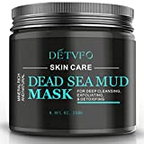 Dead Sea Mud Mask Eliminates Impurities, Dead Skin Cells, Excess Oils | Fights Blackheads, Acne &...