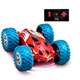 Power Your Fun Cyclone Mini RC Car for Kids - Double Sided Fast Remote Control Mini Stunt Car with LEDs, All Terrain Rubber Tires for 360 Flips, and Easy 2.4 GHZ Remote Control