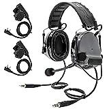 TAC-SKY COMTA III - Auriculares tácticos de doble comm, protección auditiva, amplificador de sonido para Airsoft Sports (gris)