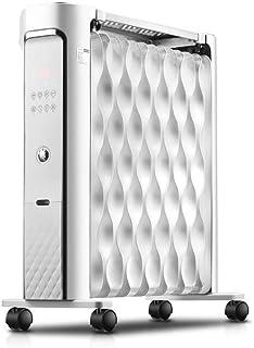 WANG XIN Aceite Digital 2200W Llenado del radiador 14 Fin Calefactor eléctrico portátil con Pantalla LED de 3 configuraciones de Temperatura Ajustable de Seguridad térmica Termostato Cut Off
