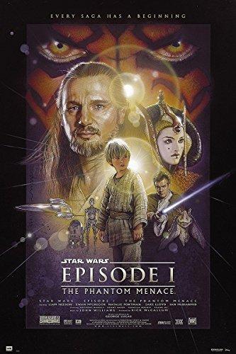 Póster Star Wars Episode I 'The Phantom Menace/ La Amenaza Fantasma' (61cm x 91,5cm) + 1 póster sorpresa de regalo