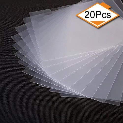 lyivssuy 20 Pack Clear Document Folder Copy Safe Project Pocket US letter/ A4 Size in Transparent Color